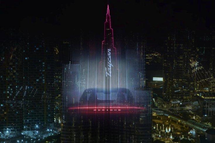 A fényjátékban pompázó Burj Khalifa