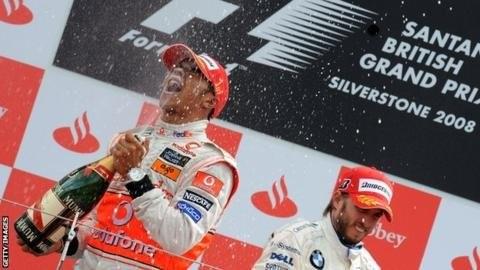 Lewis Hamilton viharos győzelme (Silverstone, 2008)