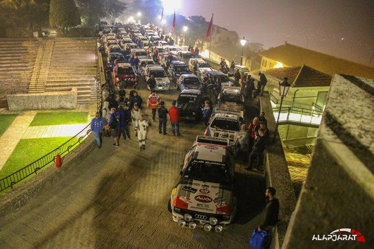 Az autók a San Marinó-i várban gyülekeznek