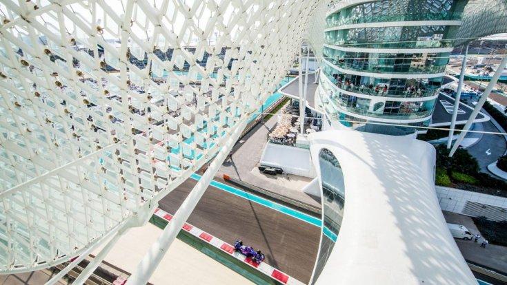 Abu Dhabi F1-es pályája felülnézetben