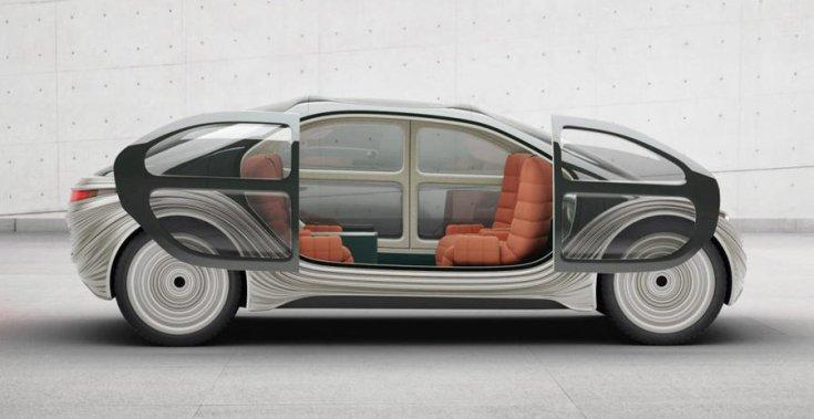 IM Motors Airo koncepció oldalról – nyitott ajtókkal