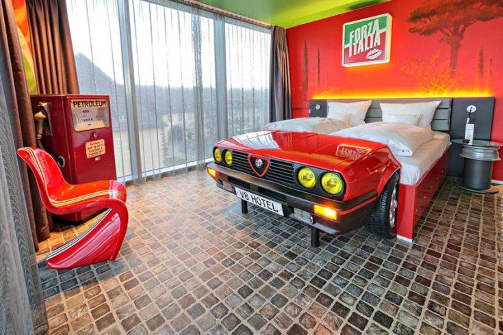 Alfa Romeo-stílusú fekhely