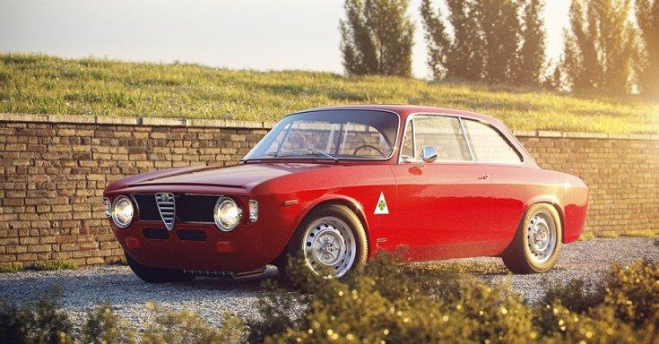 1962 Alfa Romeo Giulia, vörös, oldalnézet