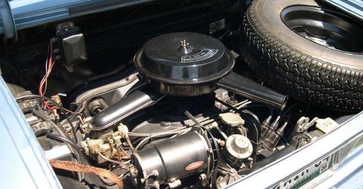 Chevrolet Corvair motorház, felül nézet
