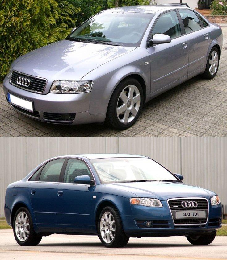 régi és új Audi A4