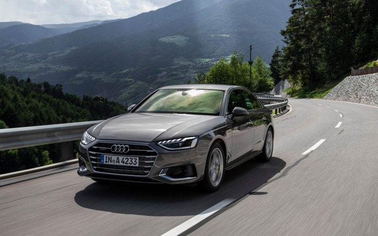 Audi A4 szemből, menet közben