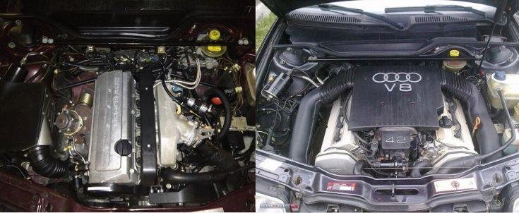 Audi 2.2 20V és Audi 4.2 V8 motor
