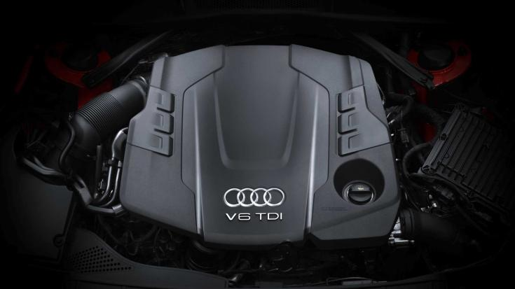 Audi V6 TDI motor felülről