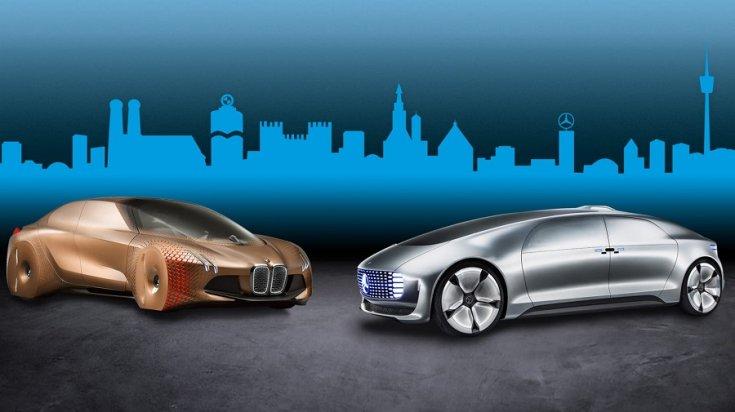 BMW és Mercedes önvezető futurisztikus autói