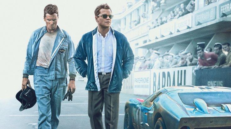 Christian Bale és Matt Damon Az aszfalt királyai című filmben