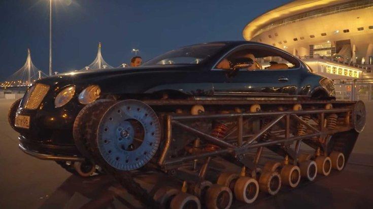 Durván átalakítottak Bentley Continental GT-t Oroszországban