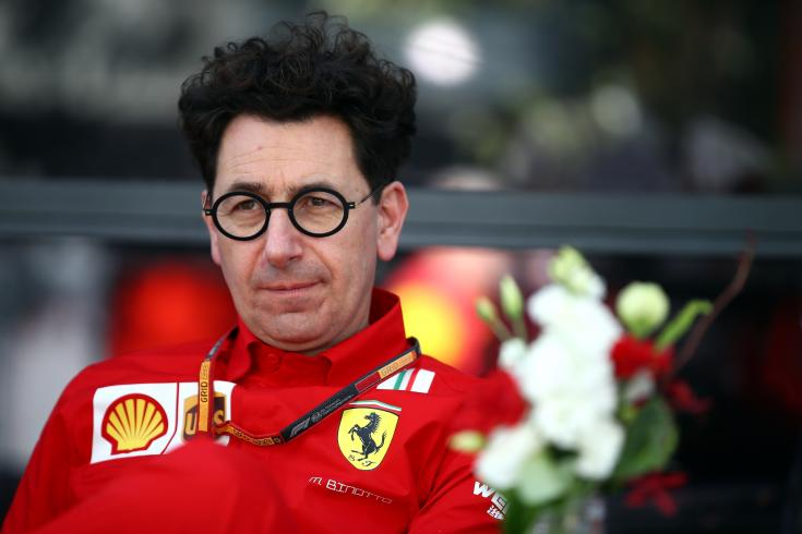 Mattia Binotto, a Ferrari csapatfőnöke szemből