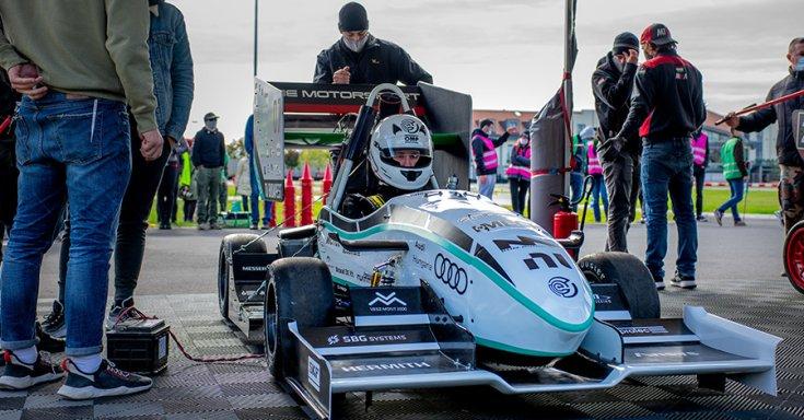 BME Motorsport 2020-as versenyautó elölről