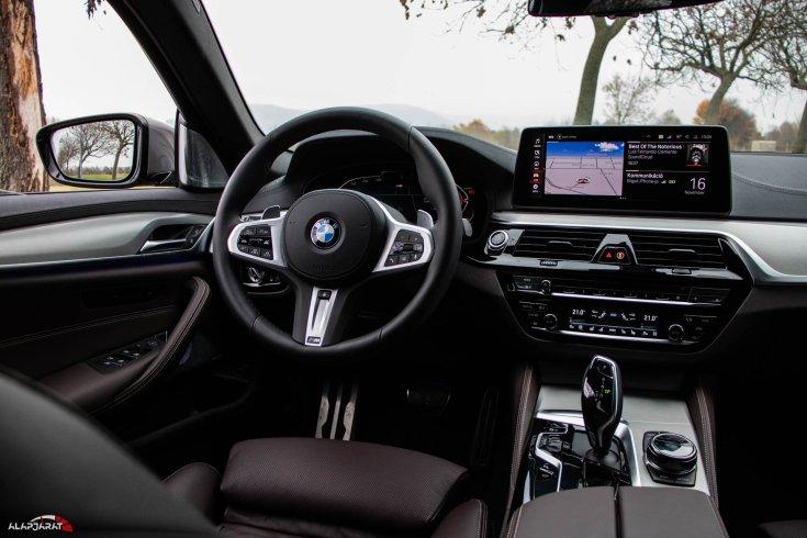BMW 530d Touring teszt alapjárat