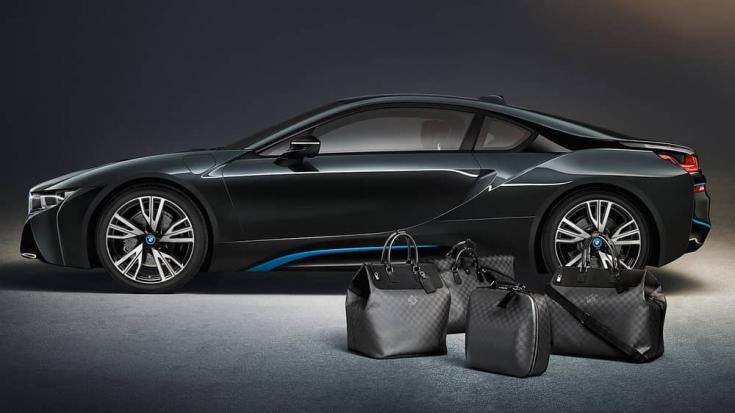 BMW i8 Luis Vuitton bőrönd szett