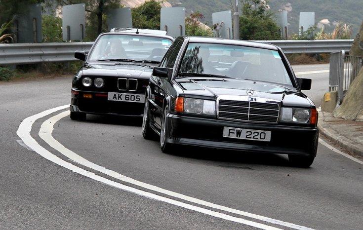 Mercedes 190E 2.3-16 és BMW M3 E30