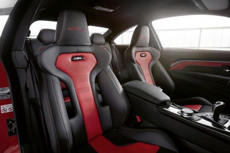 BMW M4 Edition M Heritage sport ülések