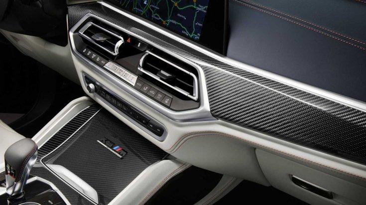 BMW X5 és az X6 M Competition belső tere