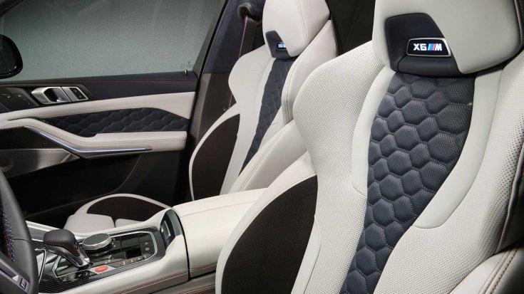 BMW X5 és az X6 M Competition belső tere és egyedi anyagai