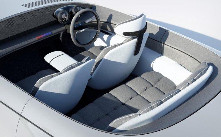 Abraham Chacko által tervezett BMW EV9-es koncepció modell belső tere