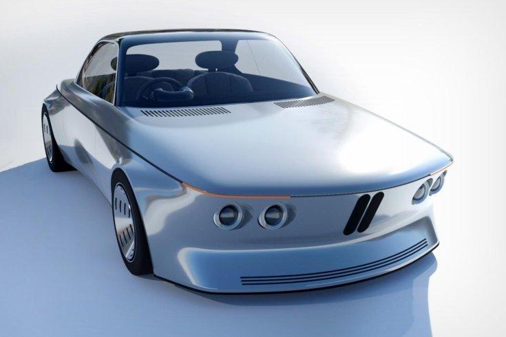 Abraham Chacko által tervezett BMW EV9-es koncepció modell szemből