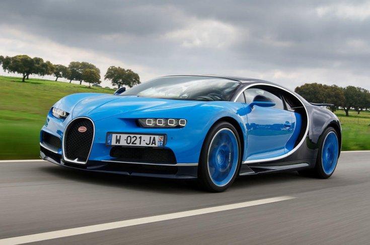 2019-es Bugatti Chiron elölről