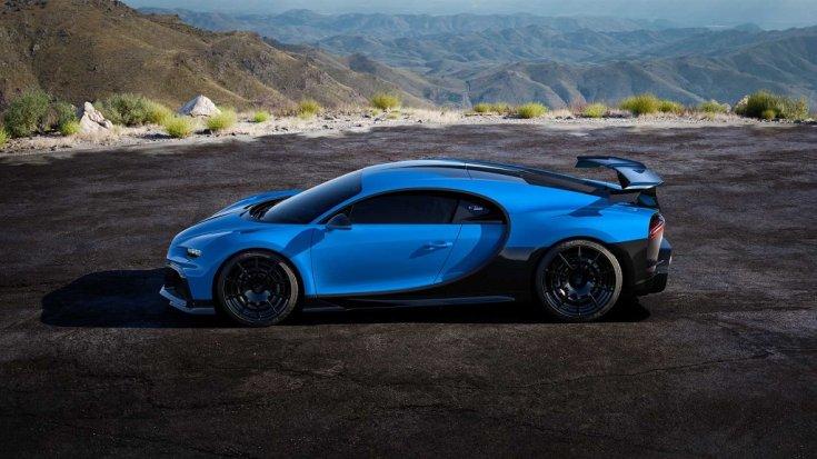 Bugatti Chiron Pur Sport oldalnézetből
