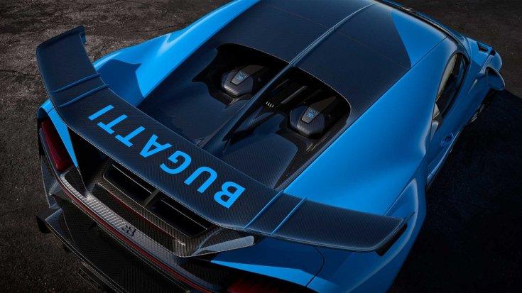 Bugatti Chiron Pur Sport hátsó szárny