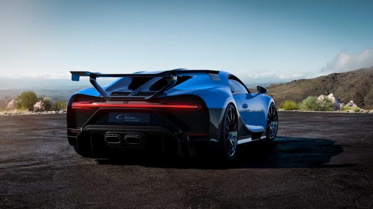 Bugatti Chiron Pur Sport hátulja
