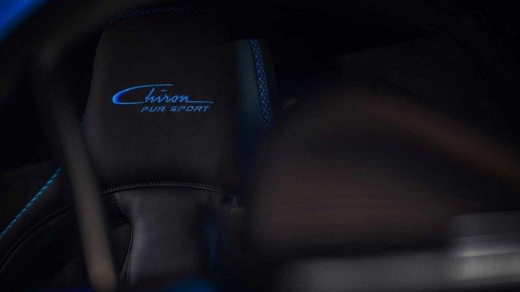 Bugatti Chiron Pur Sport egyedi varrás