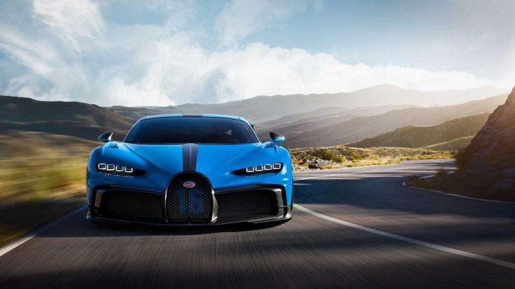 Bugatti Chiron Pur Sport menet közben