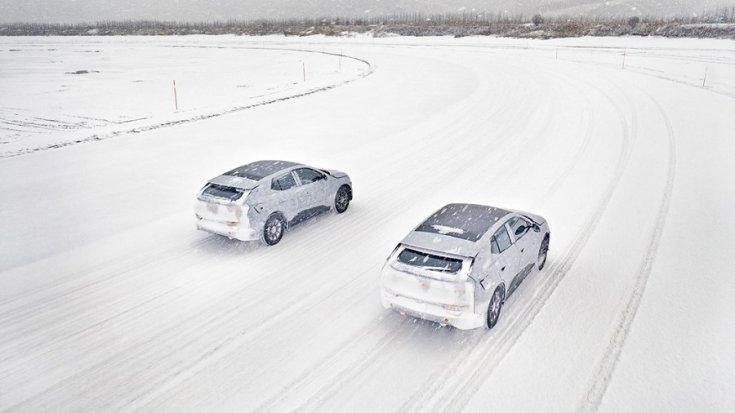 Byton modellek tesztelése hóban