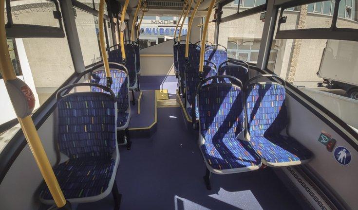 IVECO midibuszok beltér szemből