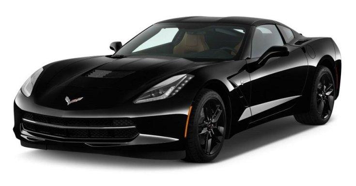 fekete Chevrolet Corvette C7 2019