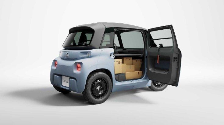 Citroën My Ami Cargo oldalról, nyitott ajtóval