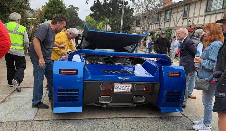 Gordon Tronson kétmotoros Corvette C5-öse hátulról