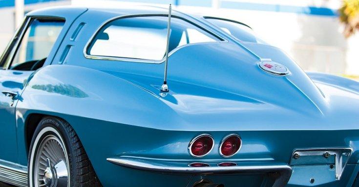 1963 Chevrolet Corvette C2 Sting Ray, kék, fastback, osztott ablak, RM Sotheby's