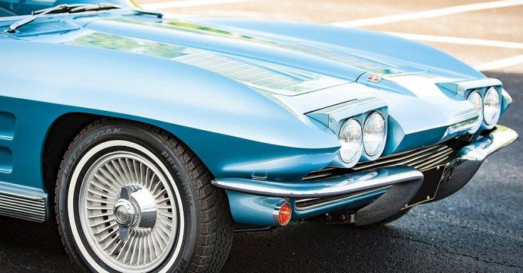 1963 Chevrolet Corvette C2 Sting Ray, kék, bukólámpák, Rm Sotheby's