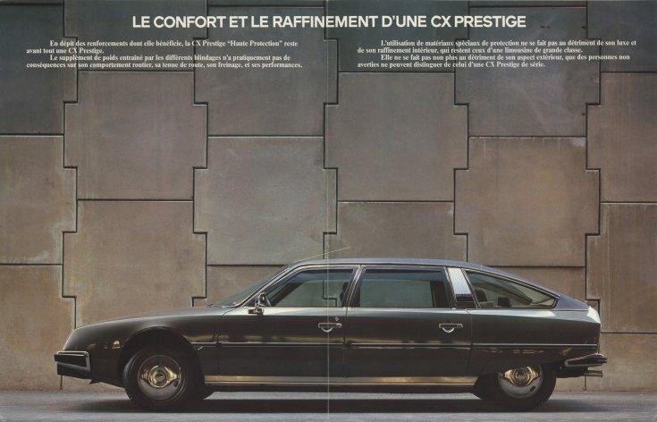 Citroën CX Haute Protection, betonfal előtt, plakát