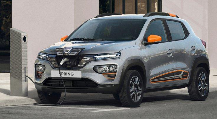 Dacia Spring töltés közben