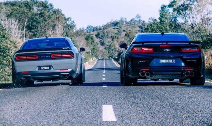 Dodge Challenger SRT Demon Chevrolet Camaro ZL1 Hennessey The Exorcist