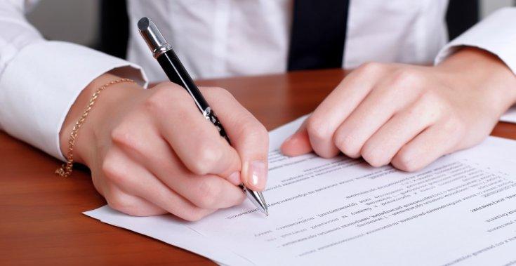 Dokumentumok aláírása