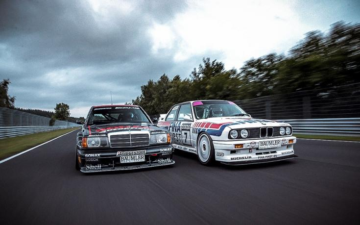 Mercedes 190E 2.3-16 és BMW M3 E30 DTM