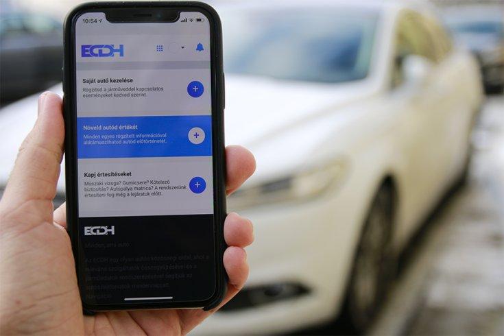 ecdh.hu autó menedzselő alkalmazás mobilon