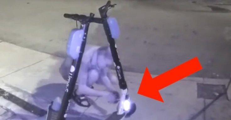 Elektromos rollert rongál meg egy 59 éves férfi