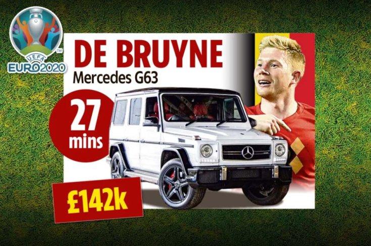 Kevin De Bruyne és egy Mercedes-AMG G63