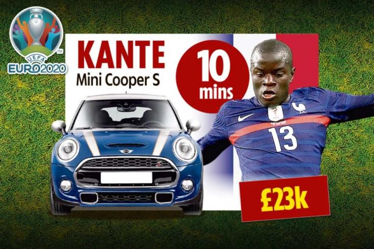 N'Golo Kante és egy Mini Cooper S