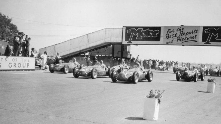Az 1950-es Brit Nagydíj (Európa Nagydíj) rajtja Silverstone-ban