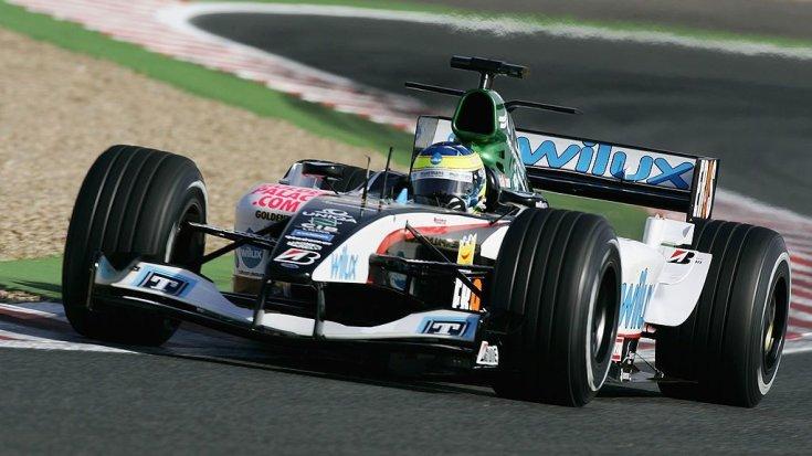 Baumgartner Zsolt egy Forma-1-es versenyen