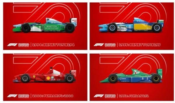 Michael Schumacher legendás versenyautói kis képeken